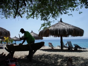 Life on the beach in Haiti